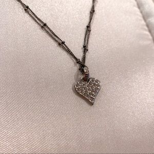 💝 American Eagle Sparkling Heart Necklace